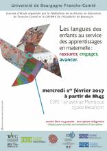 Visuel Les langues des enfants au service des apprentissages en maternelle