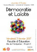 Visuel Démocratie et Laïcité