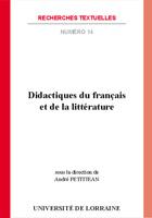 Didactiques du français et de la littérature