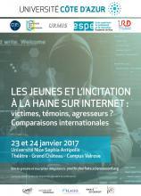 Visuel Les jeunes et l'incitation à la haine sur Internet